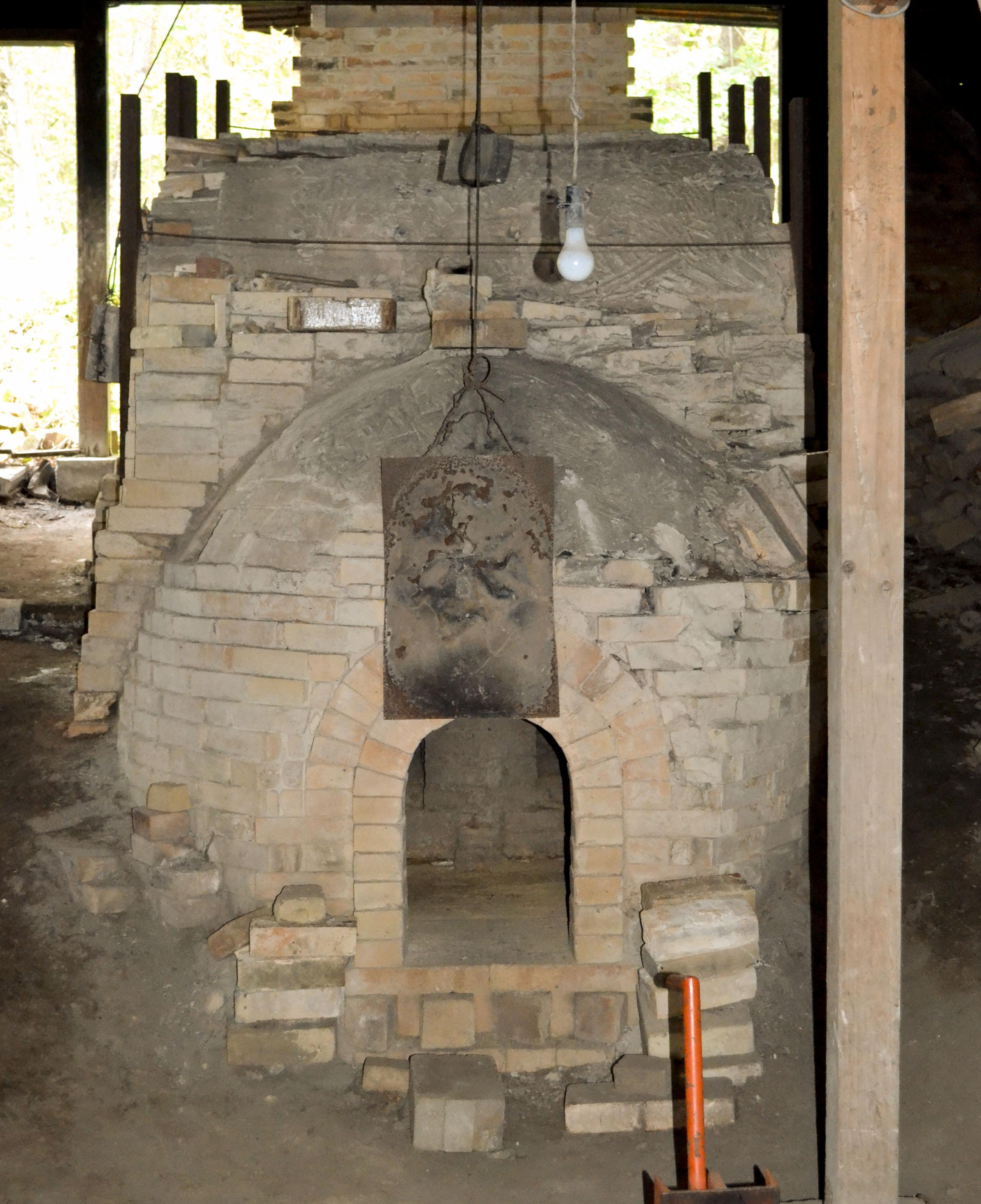 登り窯(窯口)